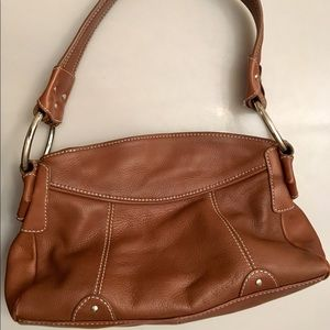 Clark's Brown Leather Med/Small Satchel Purse
